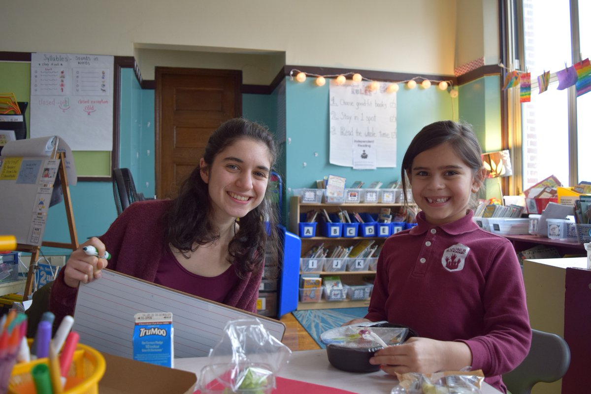 The Power Lunch Program for elementary school students in Cambridge, MA pairs a student with a partner for reading.