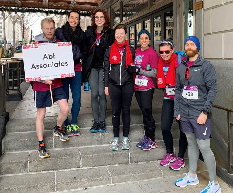 Abt team members at Walk to End HIV 2018 in Washington, D.C.