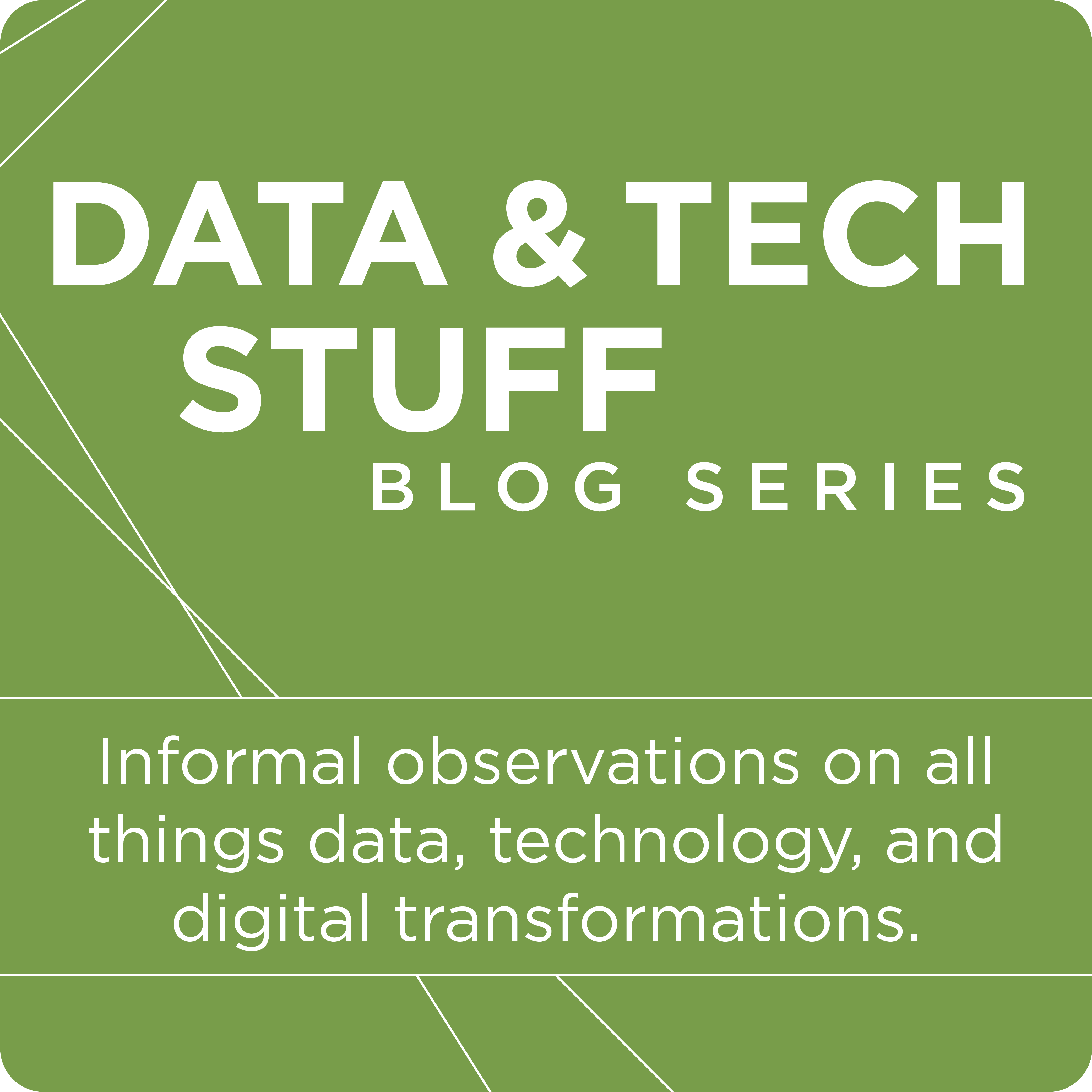data and tech stuff blog