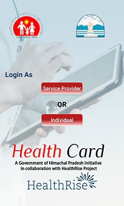 E-Health Card app screen
