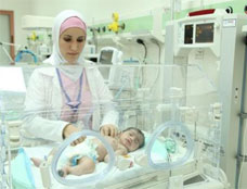 South Shouneh Hospital's state-of-the-art newborn intensive care unit. The hospital is one of a number in Jordan to receive upgrades of their obstetric, neonatal, and emergency departments through the Abt Associates-led, USAID-funded Health System Strengthening II project.