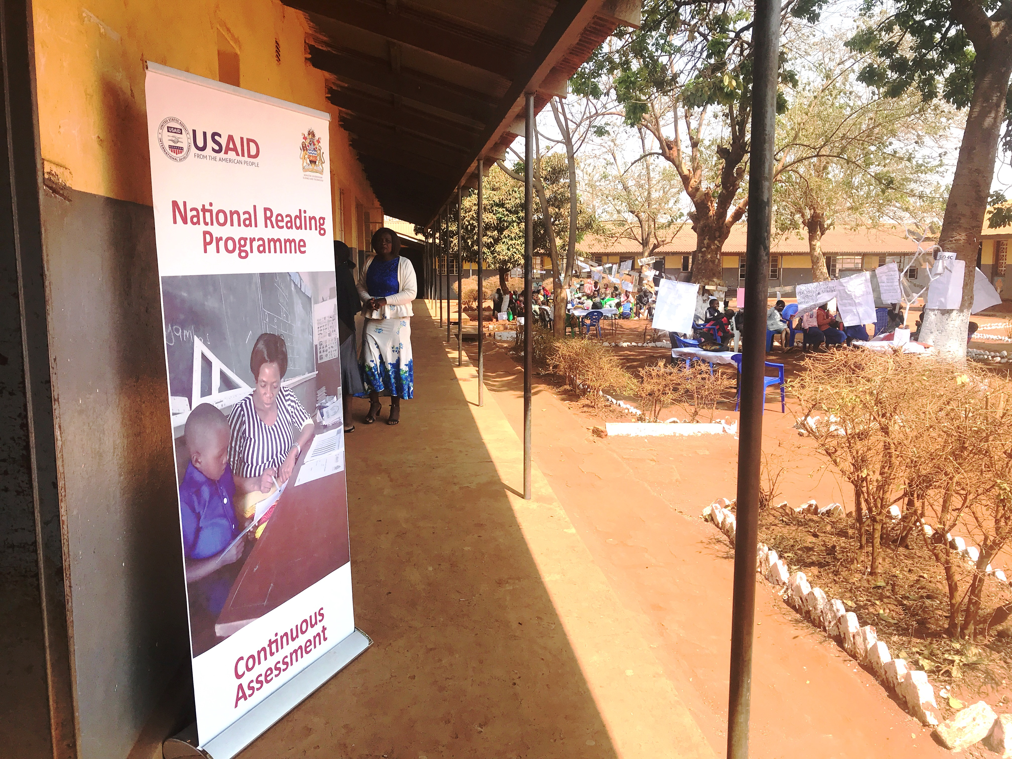 USAID banner for National Reading Programme Continuous Assessment