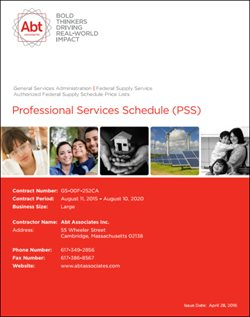 professional services schedule document