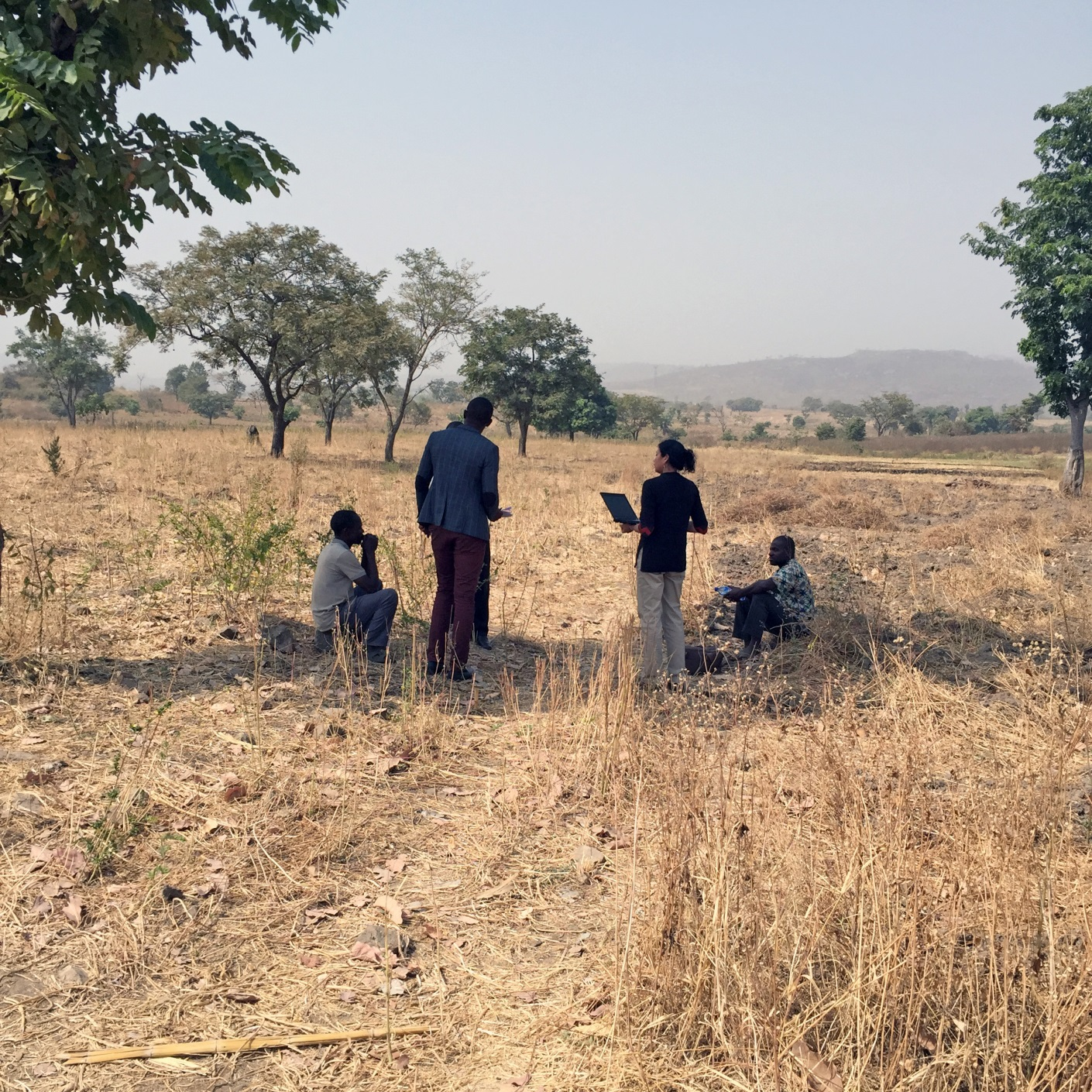 Abt staff interview small farmers in Nigeria.