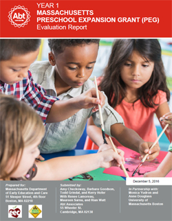 Year 1 PEG Evaluation Report cover