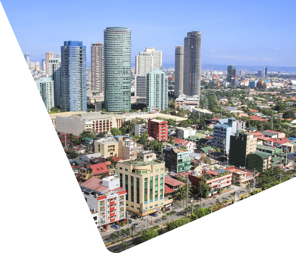 cityscape in the Philippines